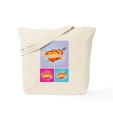 Tattoo Hearts Tote Bag