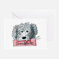 Doodleholic Gray Dood Greeting Card
