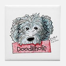 Doodleholic Gray Dood Tile Coaster