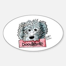 Doodleholic Gray Dood Sticker (Oval)