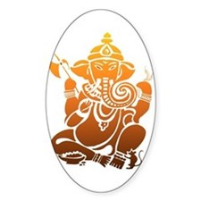 Ganesha Oval Decal