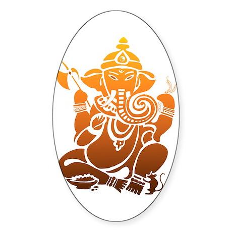 Ganesha Oval Sticker