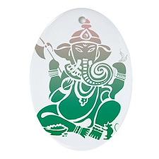 Ganesha Oval Ornament