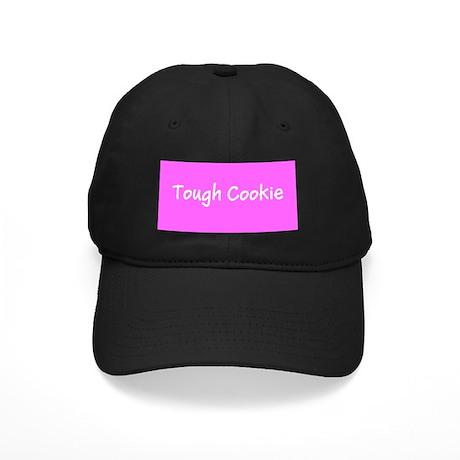 Tough Cookie Black Cap / Hat (pink)