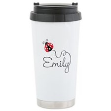 Ladybug Emily Travel Coffee Mug