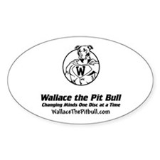 wallacethepitbull.com Oval Decal