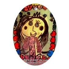 Kids Art: Pablo Picasso Quote Oval Ornament