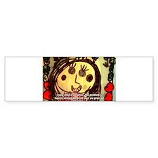 Kids Art: Pablo Picasso Quote Bumper Bumper Sticker