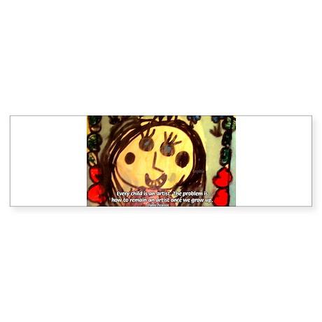 Kids Art: Pablo Picasso Quote Bumper Sticker