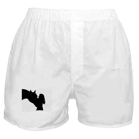 girl and horse Boxer Shorts