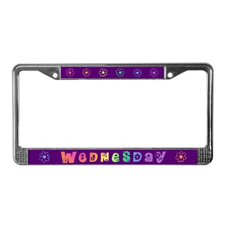 Cute Wednesday License Plate Frame