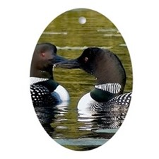 Loon Oval Ornament