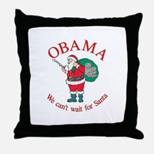 OBAMA CHANGE Christmas Throw Pillow