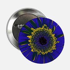 "Mccaw Blue flower 2.25"" Button"