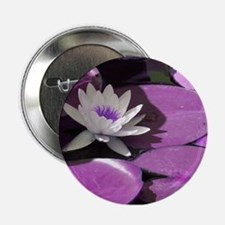 """Faint of Heart Water Lilly 2.25"""" Button"""