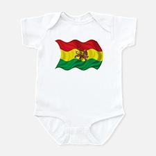 Wavy Ethiopia Flag Infant Bodysuit