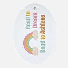 Read Dream Achieve Oval Ornament