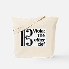 Viola Clef Tote Bag
