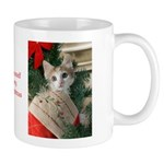 Kitten in Christmas Stocking Mug