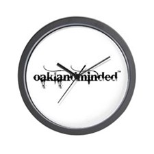 Oakland Minded Wall Clock