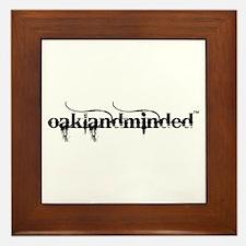 White Oakland Minded Framed Tile