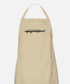 White Oakland Minded BBQ Apron