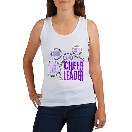 Cheer Circles Purple Women's Tank Top