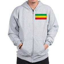 Ethiopia Flag Zip Hoody