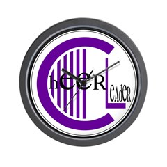 Cheer Circle Purple Wall Clock