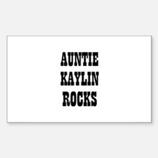AUNTIE KAYLIN ROCKS Rectangle Decal