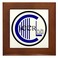 Cheer Circle Blue Framed Tile