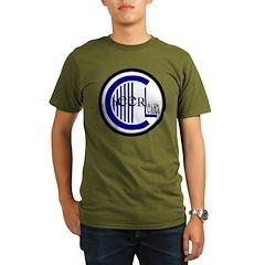 Cheer Circle Blue Organic Men's T-Shirt (dark)