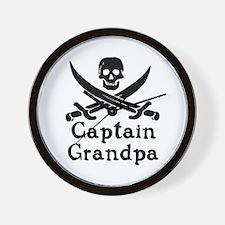 Captain Grandpa Wall Clock