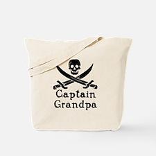Captain Grandpa Tote Bag