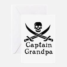 Captain Grandpa Greeting Card
