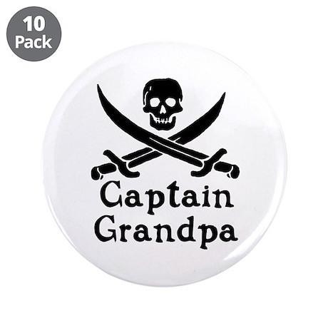 "Captain Grandpa 3.5"" Button (10 pack)"