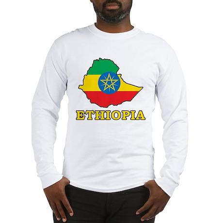 Map Of Ethiopia Long Sleeve T-Shirt