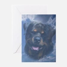 Rottweiler Sympathy Card (message inside) Greeting