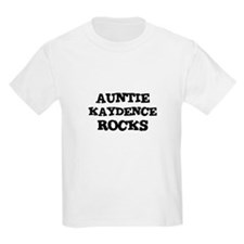 AUNTIE KAYDENCE ROCKS Kids T-Shirt