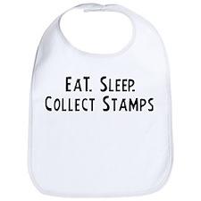 Eat, Sleep, Collect Stamps Bib