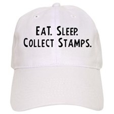 Eat, Sleep, Collect Stamps Baseball Cap