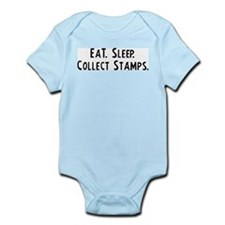 Eat, Sleep, Collect Stamps Infant Creeper