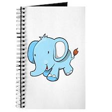 Blue Baby Elephant Walking Journal