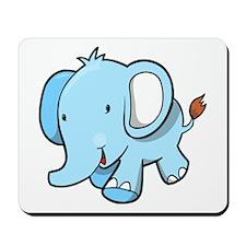 Blue Baby Elephant Walking Mousepad