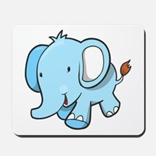 Blue Baby Elephant Walking Mousepad