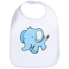 Blue Baby Elephant Walking Bib