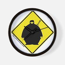 Big Fat Ninja Attack! Wall Clock