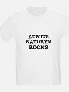 AUNTIE KATHRYN ROCKS Kids T-Shirt