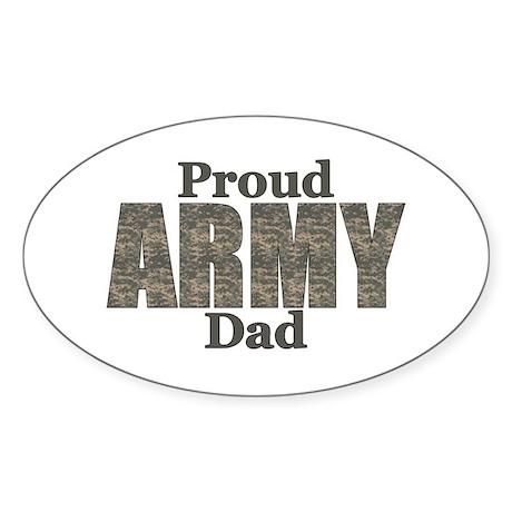 Proud Army Dad (ACU) Oval Sticker