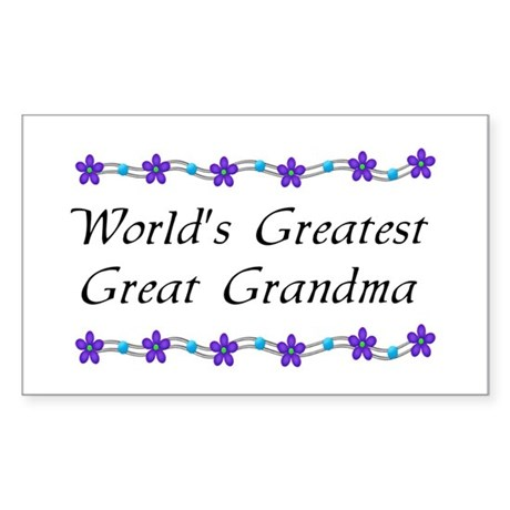 Greatest Great Grandma Rectangle Sticker 10 pk)